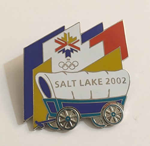 (2002 Salt Lake City Winter Olympics Covered Wagon Pin Limited Edition 3798/5000)