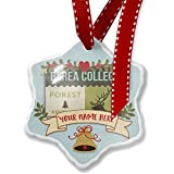 Add Your Own Custom Name, National US Forest Berea College Forest Christmas Ornament NEONBLOND