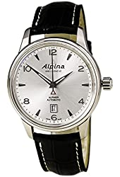 Alpina Alpiner Automatic Silver Dial Black Leather Mens Watch AL-525S4E6