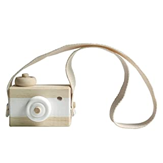 Vosarea Mini Camera in Legno Giocattolo per Bambini 'Camera appesa Arredamento Foto Puntelli Compleanno Regalo di Natale per Bambini Bambini (Bianco)