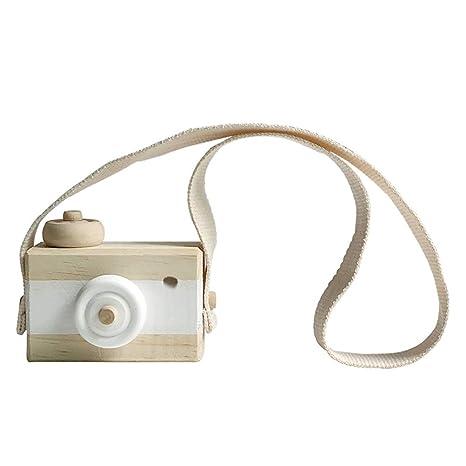 Vosarea Mini cámara de Juguete de Madera para niños habitación Colgando decoración Accesorios de Fotos cumpleaños