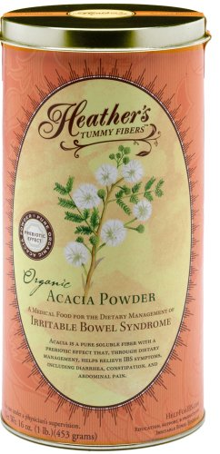 Tummy fibre de Heather CAN organique Acacia Sénégal (16 oz) pour IBS