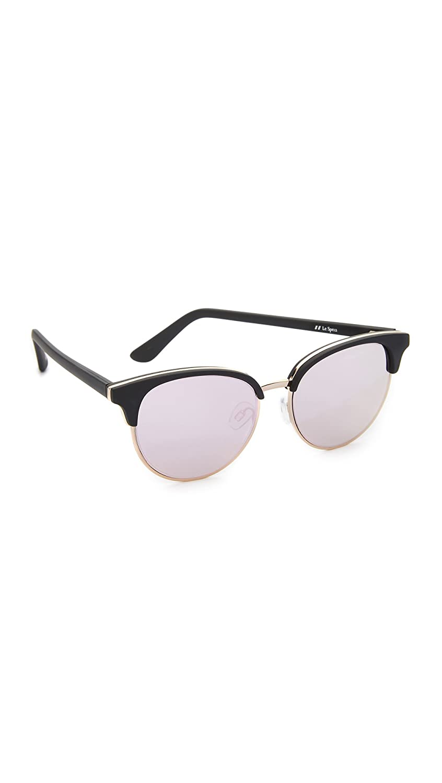 Le Specs Women's Deja Vu Black Rubber Sunglasses In Black Color 5RiLV0ZB