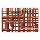 Bathroom Bath Rug Kitchen Floor Mat Carpet,Copper Decor,Knot of Copper Pipes Complex Entangled Lines Hardware Industry Inspired Decorative,Bronze White,Flannel Microfiber Non-slip Soft Absorbent