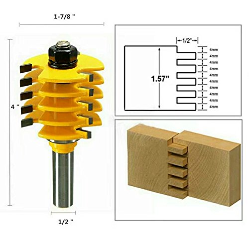 Your Supermart 1/2?Shank Splicing Puzzle Gong Floor Knife Router Bit Woodwork Cutter Tool by Your Supermart (Image #3)
