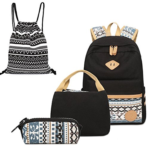 fccaed0c3d14 Alando Canvas Dot Backpack Cute Lightweight Teen Girls Backpacks School  Shoulder Bags Backpack Set - Buy Online in Oman.