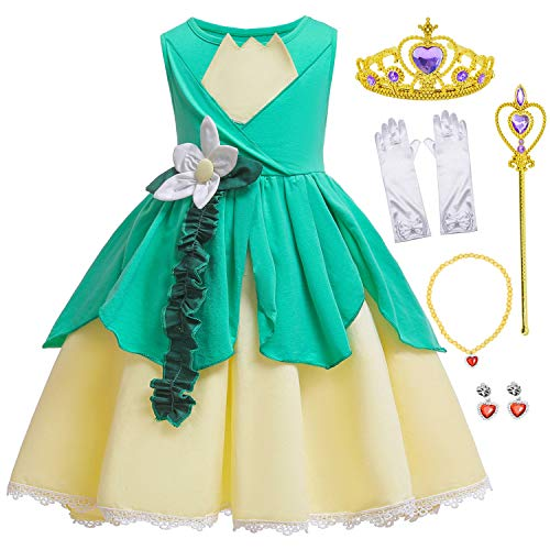Princess Frog Costume Birthday Halloween Party Dress For Toddler Girls 18-24 Months