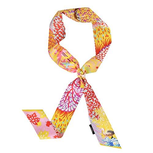 Chamo Pomeo 100% Silk Twilly Scarf for Fashion Handbag Handle Ribbon Scarfs Hairbands 47.2