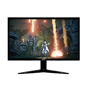 Acer Gaming Monitor 23.6″ KG241Q bmiix 1920 x 1080 1ms Response Time AMD FREESYNC Technology (2 x HDMI & VGA Ports),Black