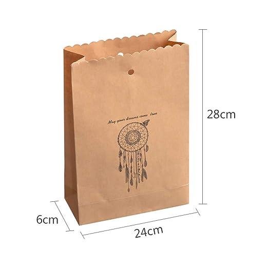 RainBabe - Bolsa de papel kraft para la compra (1 unidad ...