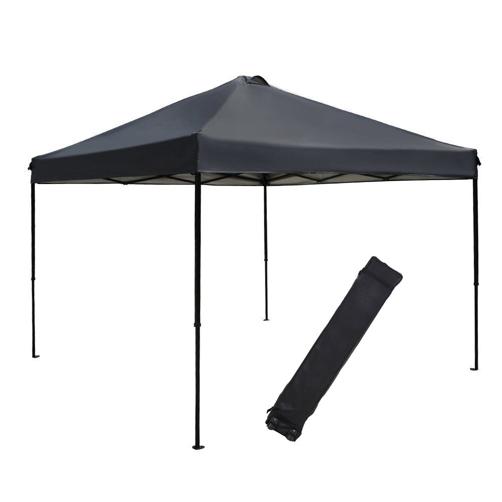 Abba Patio Pop Up Instant Folding Canopy, 10 x 10-Feet, Dark Grey