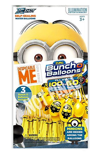 Bunch O Balloons Minions Rapid-Filling Self-Sealing Water Balloons