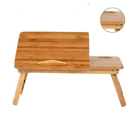 XUERUI Mesas Bambú Natural 100% Portátil Bambú Cuaderno ...