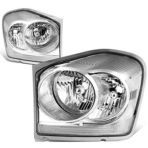 For Durango Pair of Chrome Housing Clear Corner Headlight Lamp ()