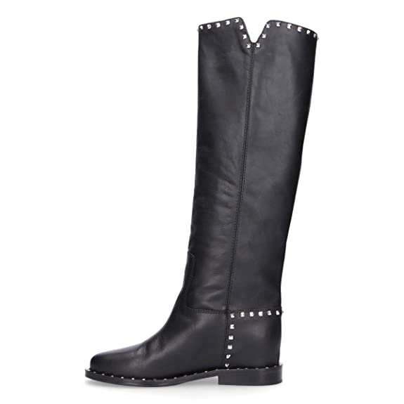 Noir Bottes Roma Chaussures V2852black 15 Femme Via Cuir qnpZwIRaC