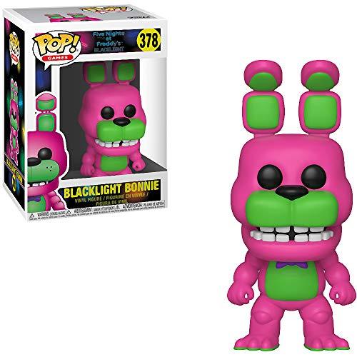 Funko Blacklight Bonnie (GameStop Exclusive): Five Nights at Freddy x POP! Games Vinyl Figure & 1 PET Plastic Graphical Protector Bundle [#378 / 34133 - B]