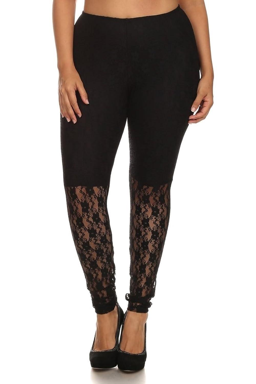 CANARI- New Collection Women's Plus Size Black Screen Legging pants