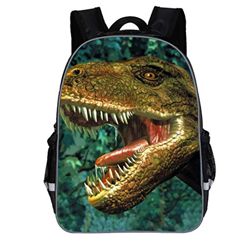 SUNyongsh Children School Backpack Kids Boys Fashion Cute Cartoon Dinosaur Print Shoulder Backpack Bag Arm Green