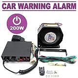 Best Car Warning Alarm 12V DC 200W 8 Tones Sounds Loud Speaker Car Truck Fire Emergency Horn Speaker Police Fire Siren -  RANZHIX