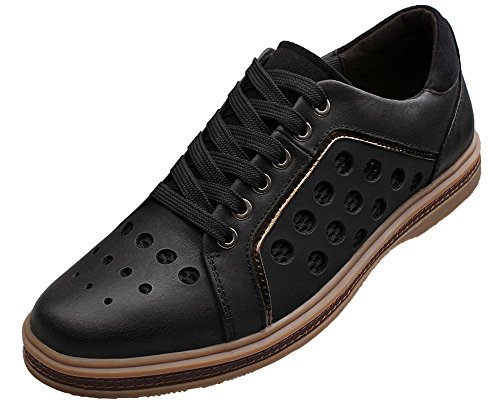 Mohem Men's Eos Leather Dress Shoes Casual Lace-Up Oxford (9 D(M) US, Black)