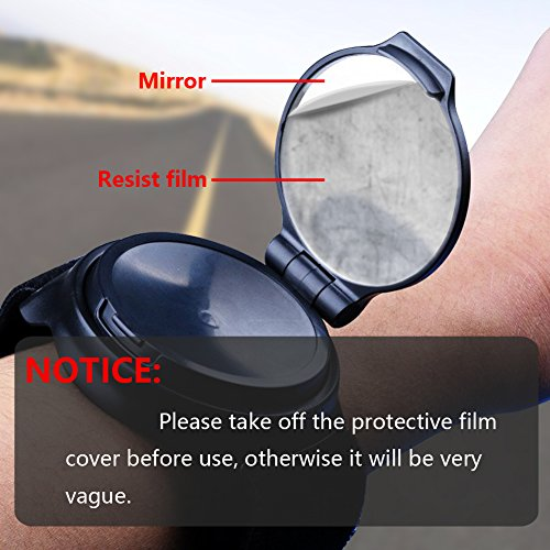 Bike Mirror,JOOKKI Rear View Bicycle Helmet Mirror,360 Degree Adjustable Wrist Mirror for Cycling by JOOKKI (Image #4)