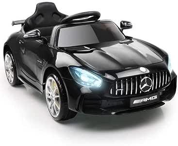 RIGO Kids Ride On Toy Car Licensed Mercedes-Benz AMG GTR Electric Car Remote Control-Pink