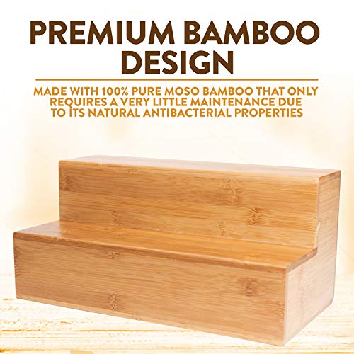 Coffee Tea Organizer Station - Bamboo Condiment and Accessories Caddy Organizer | for Kitchen and Office Organization by Bambüsi (Image #8)