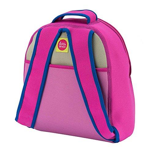 Dabbawalla Bags Blushing Pink Monkey Kid's Toddler & Preschool Backpack Pink/Grey