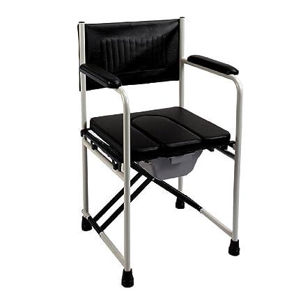 SOUMAO sillas plegables negras para el inodoro móvil mujeres ...