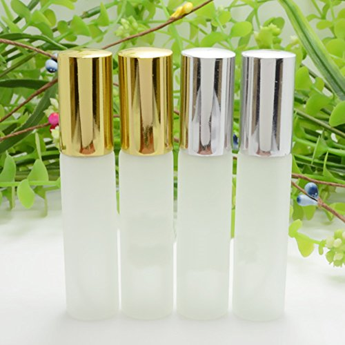 Enslz 10ml Frosted Glass Spray Perfume Bottles 6Pcs Travel Small Empty Atomizer Bottle Fragrance Fine Mist Christmas Day Gift Free 2pcs Pipette by Enslz (Image #4)