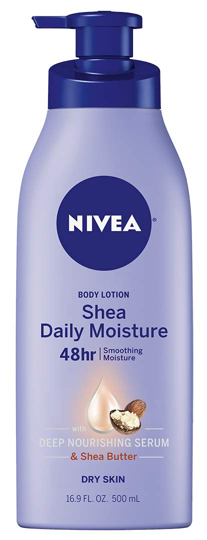 NIVEA Shea Daily Moisture Body Lotion - 48 Hour Moisture For Dry Skin - 16.9 fl. oz. Pump Bottle