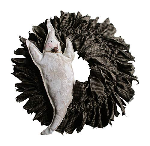 From The Attic Crafts Halloween Wreath Ghost Rag Wreath Primitive Door Decor