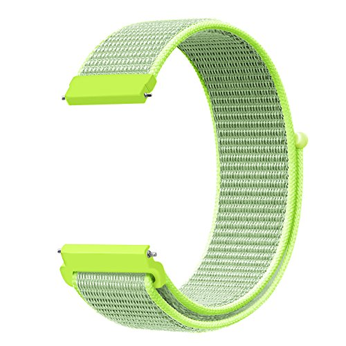 Fintie Band Compatible with Galaxy Watch 46mm / Gear S3 Frontier Classic Smartwatch, 22mm Lightweight Breathable Nylon Replacement Sport Loop Wrist Strap for Men Women - Flash Light [Small]