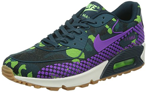Nike Womens Wmns Air Max 90 Jcrd Prm, Groenblauw / Levendig Paars-mid Tl-ghost Groen, 8 Us