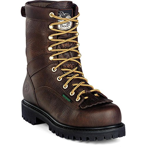 Georgia Men's G8041 Logger Boot-M Work, Tumbled Chocolate, 12 W US