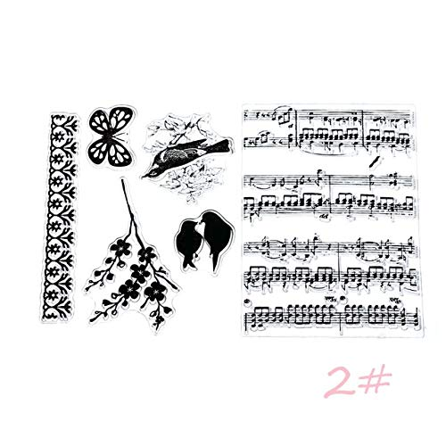 1PC New DIY Transparent Silicone Clear Rubber Stamp Sheet Cling Scrapbooking New Sales 2017 - (Color: 2)