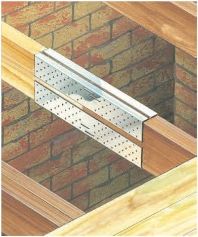 BUTT JOINING UP TO 250MM TIMBER JOIST CONNECTING PLATES L98 BAT SPLICE