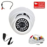 """Cheap VideoSecu Outdoor 700TVL Built-in 1/3"""" Sony Effio Color CCD Infrared Dome Security Camera High Resolution Vandal Proof Day Night for Home CCTV DVR with Pre-Amp Microphone, Cable and Power Supply A86"""