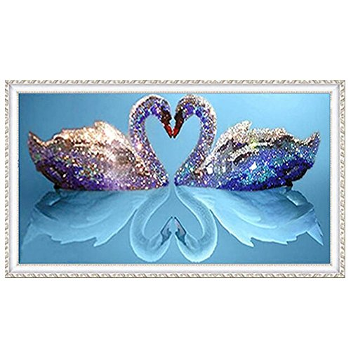DIY Partial Drill Diamond Painting Two Swans (Love) Home Decor Room Decoration Gift for Friends
