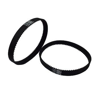 BEMONOC Pack of 10pcs 3D Priner Parts GT2 Timing Belt Rubber L=150mm W=6mm 75 Teeth in Closed Loop BBQ Driver