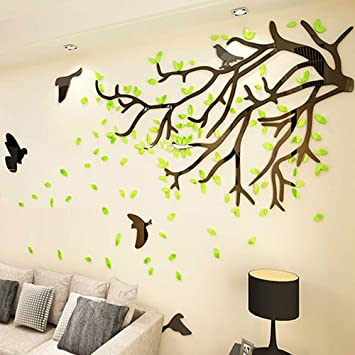 Amazon.com: Ghaif Tree 3d wall art living room TV background wall ...