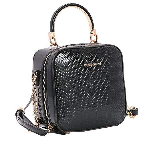 Bolsa Feminina Chenson Lagarto Verniz de Mão 3482904