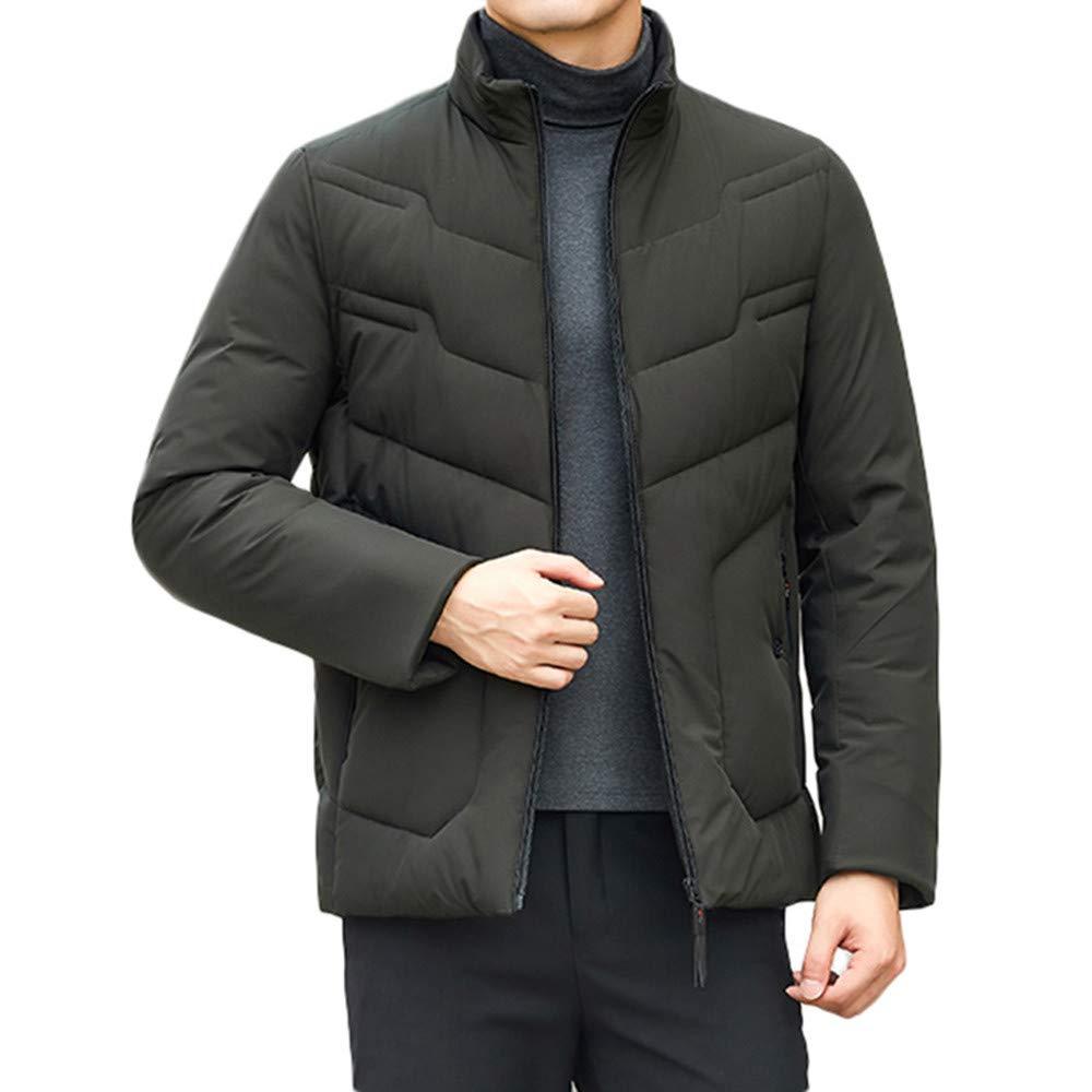 Doublelift Mens Jackets Stand Collar Outdoor Sportswear Puffer Coats