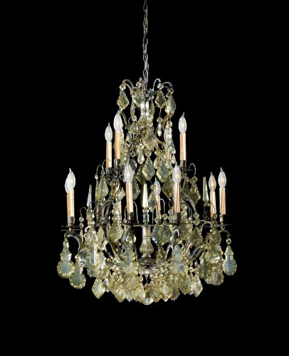 (Savoy House 2-416-12-20 Versailles Collection 12-Light Crystal Chandelier, Oxidized Rustic Bronze finish with Hand-Antiqued Crystals)