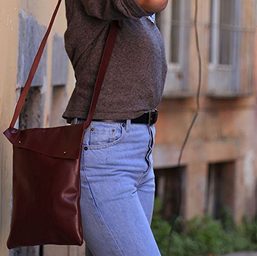 Brown Leather Handmade Women's Messenger Bag