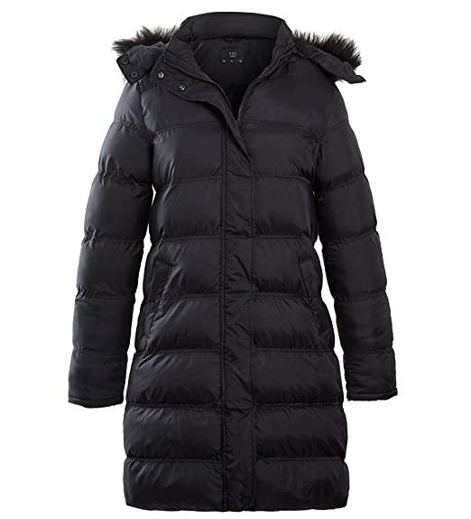 5ed3581cbcd0e SS7 Womens Parka Coat with Faux Fur Hood  Amazon.co.uk  Clothing