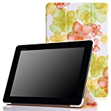 MoKo ASUS T100 Chi 10.1 Case - Ultra Slim Lightweight Smart-shell Stand Cover Case for T100 Chi 10.1 Inch (2015 Version) Windows Tablet, Floral GREEN (Will Not Fit T100 2013 Version)