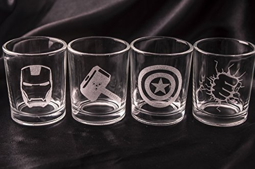 avengers shot glasses