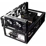 Support minier - Dxlta En acier à ciel ouvert Miner Mining Frame Rig Rig Jusqu'à 6 GPU BTC LTC ETH Ethereum Nouveau Miner Cadre Rig