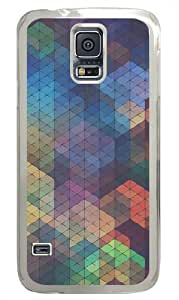 Colored diamond background Polycarbonate Hard Case Cover for Samsung S5/Samsung Galaxy S5 Transparent